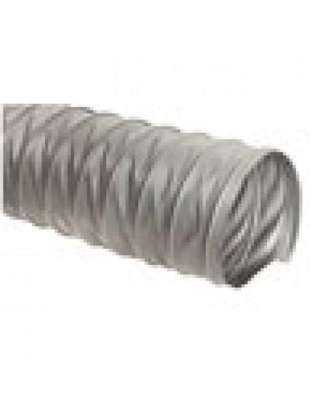 Серый универсальный шланг ПВХ длиной 10м, ø100мм, стенка 0,3мм