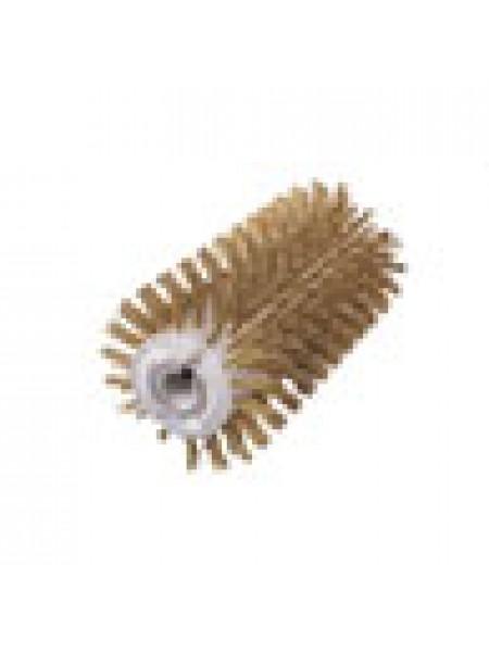 Брашировальная щетка валик Д130х250мм, ворс корд сталь латун. жгут d0,30