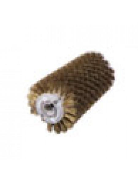 Брашировальная щетка валик Ø130х460 мм, ворс кордовый стальной латунированный Ø0,3 мм