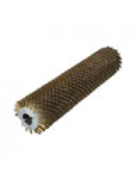 Брашировальная щетка валик Д157х635мм, ворс корд сталь латун d0,3