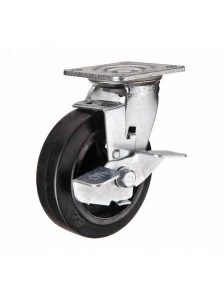 Колёса большегрузные поворотные с тормозом обрезиненые